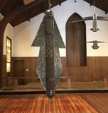 Installation view of Shahpour Pouyan's 'Projectiles' at Fort Worth Chapel